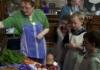 Education officer, Nancy White runs a workshop for children at Halifax Minster