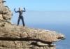 Jane Newsome climbs Table Mountain